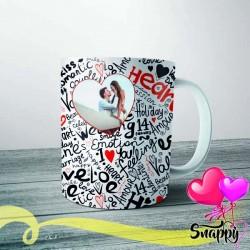 """Tazza personalizzata con foto """"HEART"""""""