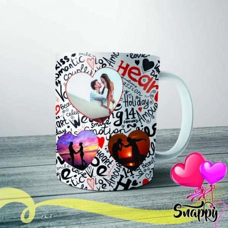 """Tazza personalizzata con foto """"HEART THREE"""""""