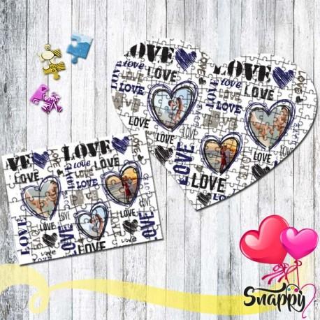 """Puzzle personalizzato con foto """"LOVE"""""""