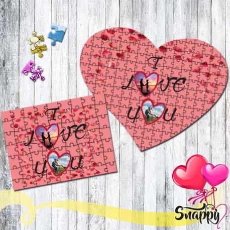 """Puzzle personalizzato con foto """"I LOVE"""""""