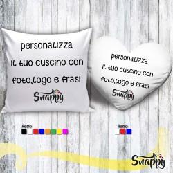 Cuscino personalizzato con foto e/o frasi