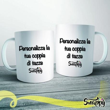 Coppia di tazze personalizzate con foto e/o frasi