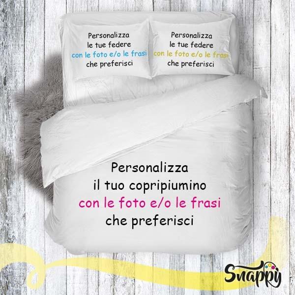 Copripiumino Con Foto.Copripiumino Personalizzato Con Foto Trapunta Parure Personalizzata
