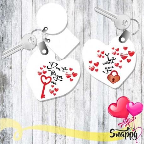 Coppia di portachiavi personalizzati LOVE STORIES CHIAVE