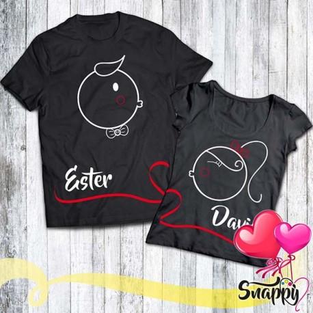 Coppia di t shirt personalizzate LOVE STORIES BACIO