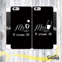 Coppia di cover personalizzate MR & MRS SPOSI