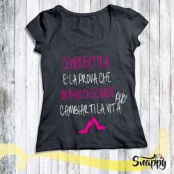 T shirt donna personalizzata GLAMOUR CENERENTOLA