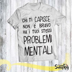 T shirt personalizzata GLAMOUR PROBLEMI