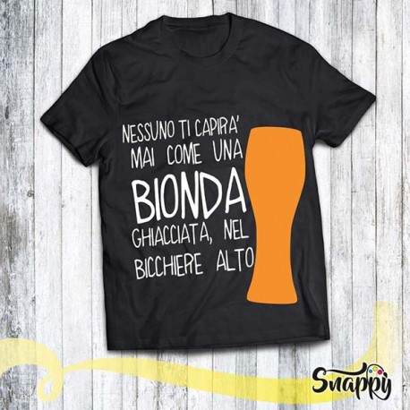 T shirt uomo personalizzata GLAMOUR BEER