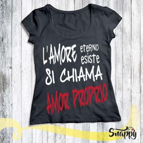 T shirt donna personalizzata GLAMOUR AMOR PROPRIO