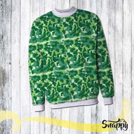 Felpa personalizzata full print GLAMOUR GREEN