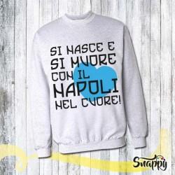 Felpa personalizzata full print NAPOLI CUORE