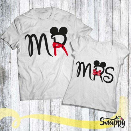 Coppia di T shirt personalizzate MR & MRS