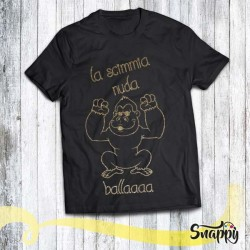 T shirt glitterata SONG SCIMMIA DANCE