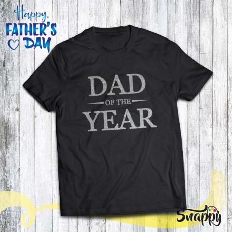 T shirt uomo glitterata DAD OF THE YEAR