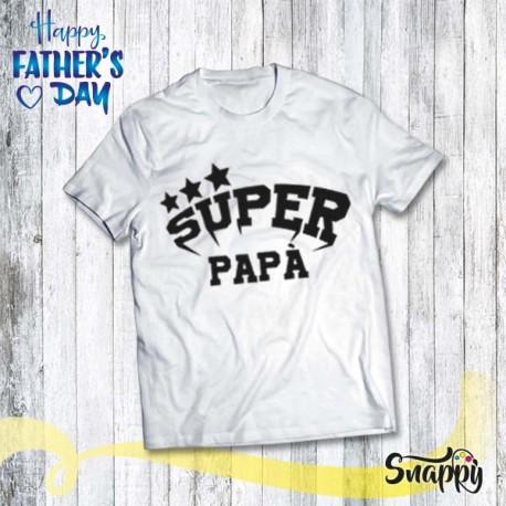 T shirt uomo personalizzata SUPER PAPA'
