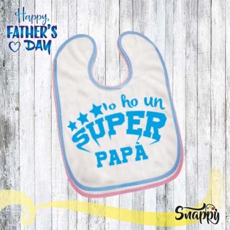 Bavaglino personalizzato SUPER PAPA'