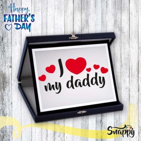 Targa riconoscimento I LOVE MY FATHER