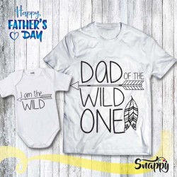 T shirt Papà body neonato WILD