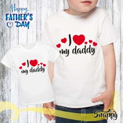 T shirt bambino I LOVE MY FATHER