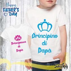 T shirt bambino PRINCIPINO & PRINCIPESSA