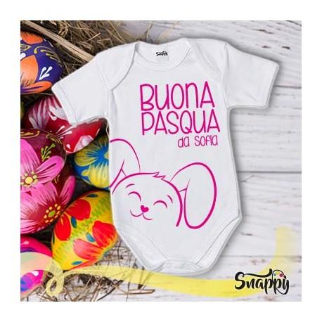 Body personalizzato con nome HAPPY CONIGLIO