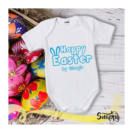 Body personalizzato con nome HAPPY EASTER