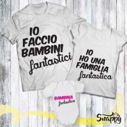 Set di t shirt e body FAMIGLIA FANTASTICA