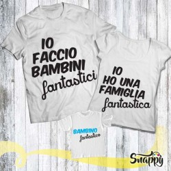 Set di t shirt FAMIGLIA FANTASTICA