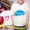T shirt con nome bambino BUTTERFLY - EGGS