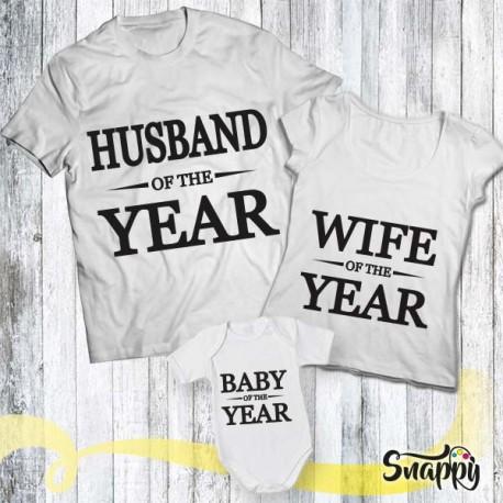 Set di t shirt e body HUS & WIFE