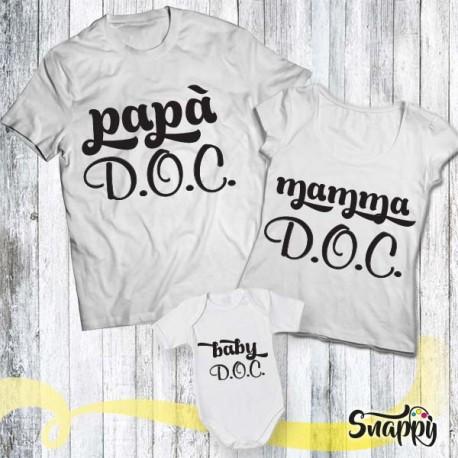 Set di t shirt e body FAMIGLIA D.O.C.