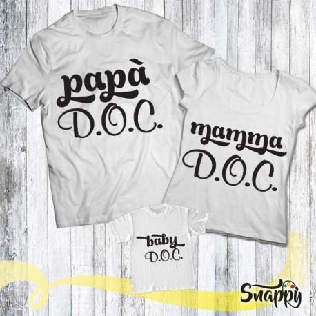 Set di t shirt FAMIGLIA D.O.C.