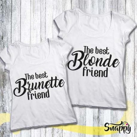 Coppie di t shirt personalizzate BLONDE & BRUNETTE
