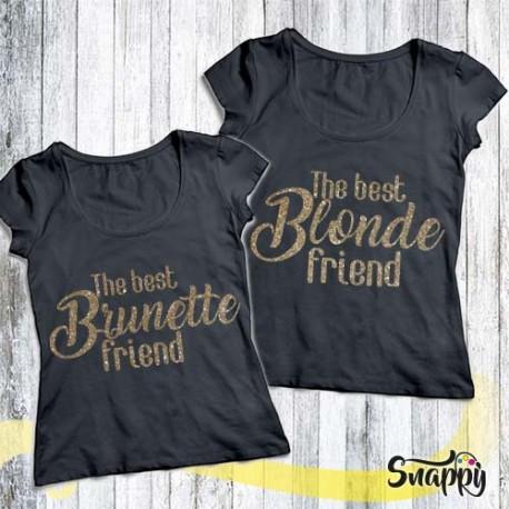 Coppie di t shirt con glitter BLONDE & BRUNETTE