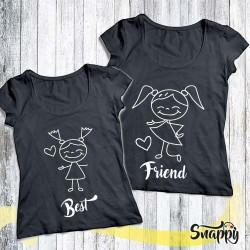 Coppie di t shirt personalizzate AMICHE