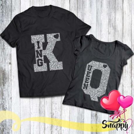 Coppia di t shirt GLITTERATE K & Q