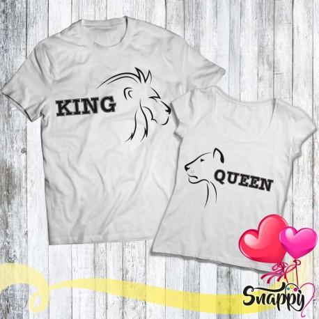 Coppia di t shirt personalizzate LION & LIONESS