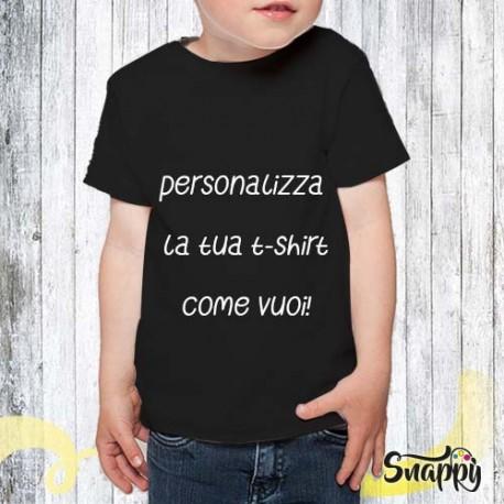 T shirt personalizzata bambino con foto e/o frasi