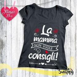 T shirt personalizzata MAMMA & CONSIGLI