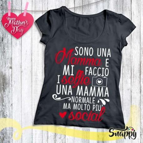 T shirt personalizzata MAMMA SELFIE