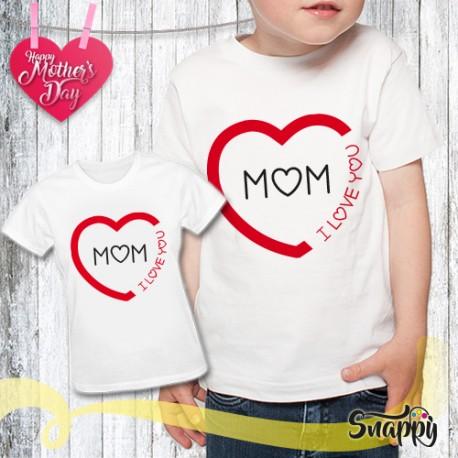 T shirt bambino personalizzata LOVE MOM