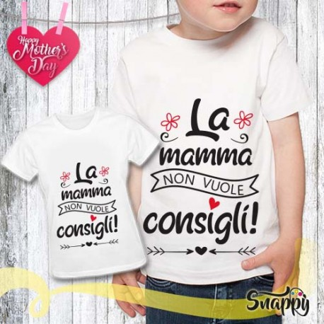 T shirt bambino personalizzata MAMMA & CONSIGLI