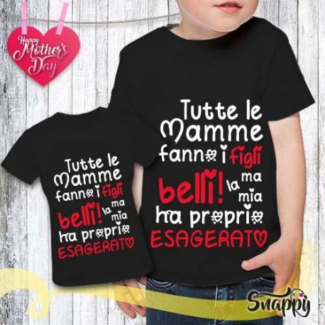 T shirt bambino personalizzata ESAGERATO