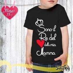 T shirt bambino personalizzata RE DELLA MAMMA