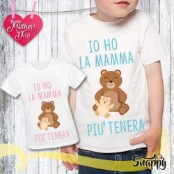 T shirt bambino personalizzata MAMMA TENERA