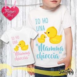 T shirt bambino personalizzata MAMMA CHIOCCIA