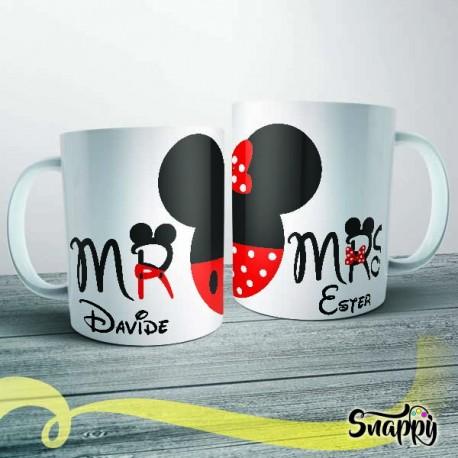 Coppia di tazze personalizzate MR & MRS