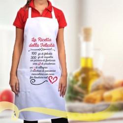 Grembiule da cucina RICETTA DELLA FELICITA'