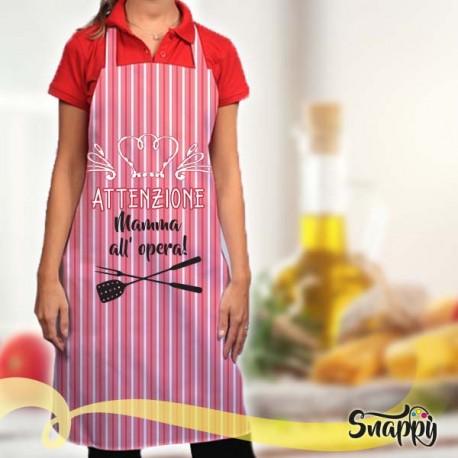 Grembiule da cucina full print MAMMA & FORNELLI